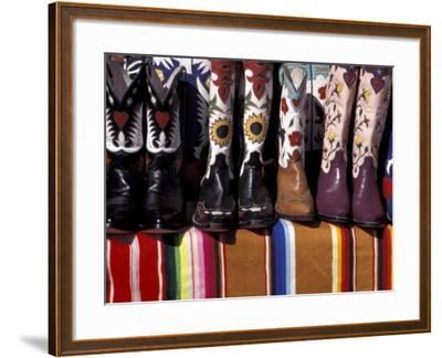Cowboy Boots Detail, Santa Fe, New Mexico, USA-Judith Haden-Framed Photographic Print