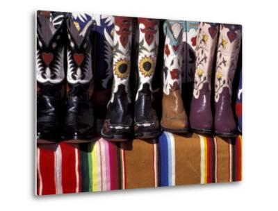 Cowboy Boots Detail, Santa Fe, New Mexico, USA-Judith Haden-Metal Print