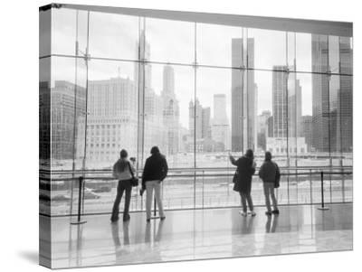 Looking at Ground Zero, Lower Manhattan, New York, USA-Walter Bibikow-Stretched Canvas Print