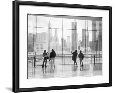 Looking at Ground Zero, Lower Manhattan, New York, USA-Walter Bibikow-Framed Photographic Print