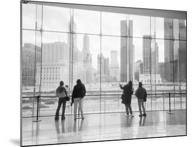Looking at Ground Zero, Lower Manhattan, New York, USA-Walter Bibikow-Mounted Photographic Print