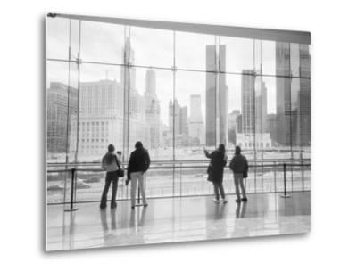 Looking at Ground Zero, Lower Manhattan, New York, USA-Walter Bibikow-Metal Print