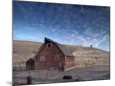 Red Barn, Wallowa County, Oregon, USA-Brent Bergherm-Mounted Photographic Print