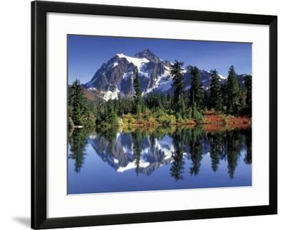 Mount Shuksan at Picture Lake, Heather Meadows, Washington, USA-Jamie & Judy Wild-Framed Photographic Print