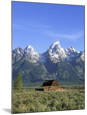 Morning Light on the Tetons and Old Barn, Grand Teton National Park, Wyoming, USA-Howie Garber-Mounted Photographic Print