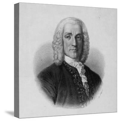 Portrait of Domenico Scarlatti, Italian Composer--Stretched Canvas Print