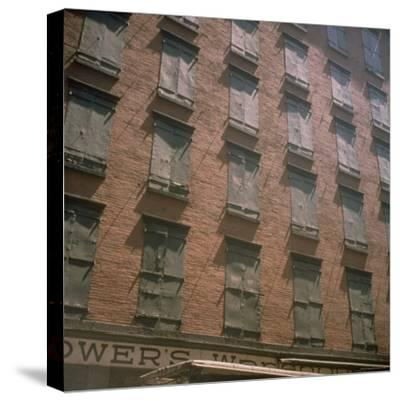 Shuttered Warehouse on Worth Street Lit by Late Day Sunlight-Walker Evans-Stretched Canvas Print