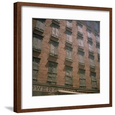 Shuttered Warehouse on Worth Street Lit by Late Day Sunlight-Walker Evans-Framed Photographic Print