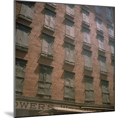 Shuttered Warehouse on Worth Street Lit by Late Day Sunlight-Walker Evans-Mounted Photographic Print