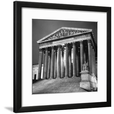 Exterior of the Supreme Court Building-Paul Schutzer-Framed Photographic Print