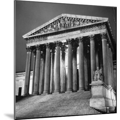 Exterior of the Supreme Court Building-Paul Schutzer-Mounted Photographic Print