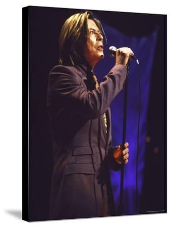 Singer David Bowie Performing-Dave Allocca-Stretched Canvas Print
