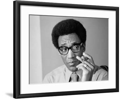 Comedian Bill Cosby Holding Cigar-Alfred Eisenstaedt-Framed Premium Photographic Print
