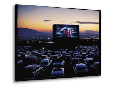 "Charlton Heston as Moses in Motion Picture ""The Ten Commandments"" Shown at Drive in Movie Theater-J^ R^ Eyerman-Metal Print"