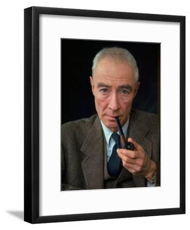 Nuclear Physicist Dr. J. Robert Oppenheimer-Alfred Eisenstaedt-Framed Premium Photographic Print
