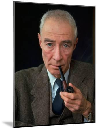 Nuclear Physicist Dr. J. Robert Oppenheimer-Alfred Eisenstaedt-Mounted Premium Photographic Print