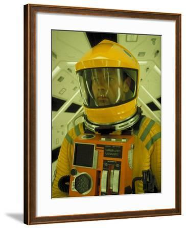 "Close Up Portrait of Actor in Astronaut Suit on the Set of the Movie ""2001: A Space Odyssey""-Dmitri Kessel-Framed Premium Photographic Print"