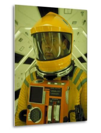"Close Up Portrait of Actor in Astronaut Suit on the Set of the Movie ""2001: A Space Odyssey""-Dmitri Kessel-Metal Print"