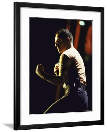 Singer Bono of Rock Group U2 Performing-Marion Curtis-Framed Premium Photographic Print