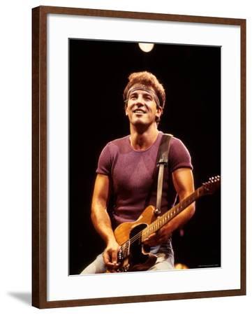 Musician Bruce Springsteen Performing-David Mcgough-Framed Premium Photographic Print