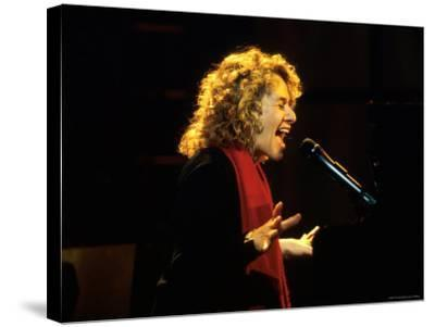 Singer and Songwriter Carole King Performing-Marion Curtis-Stretched Canvas Print