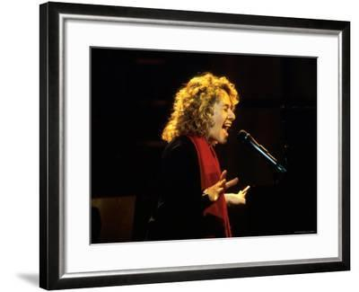 Singer and Songwriter Carole King Performing-Marion Curtis-Framed Premium Photographic Print