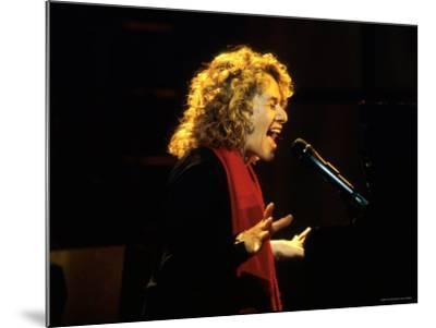 Singer and Songwriter Carole King Performing-Marion Curtis-Mounted Premium Photographic Print