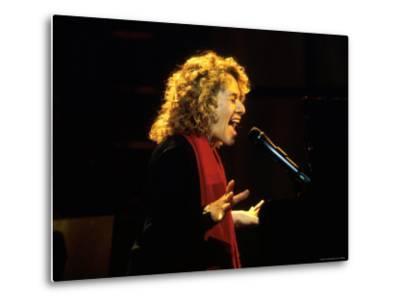 Singer and Songwriter Carole King Performing-Marion Curtis-Metal Print