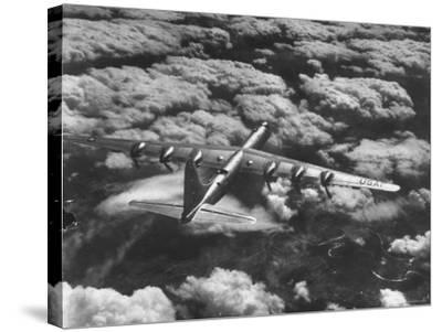 SAC's B-36 Bomber Plane During Practice Run from Strategic Air Command's Carswell Air Force Base-Margaret Bourke-White-Stretched Canvas Print