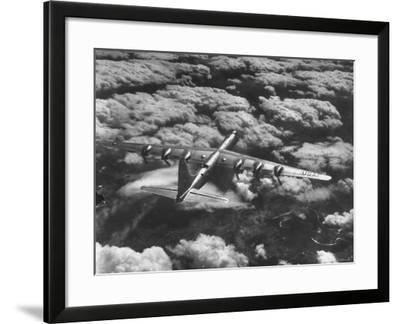 SAC's B-36 Bomber Plane During Practice Run from Strategic Air Command's Carswell Air Force Base-Margaret Bourke-White-Framed Photographic Print