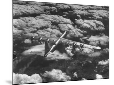 SAC's B-36 Bomber Plane During Practice Run from Strategic Air Command's Carswell Air Force Base-Margaret Bourke-White-Mounted Photographic Print