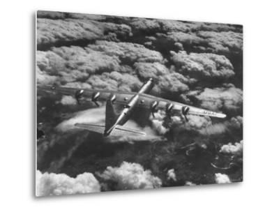 SAC's B-36 Bomber Plane During Practice Run from Strategic Air Command's Carswell Air Force Base-Margaret Bourke-White-Metal Print