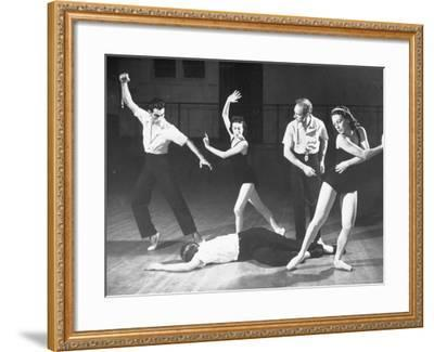 """Antony Tudor Rehearsing Hugh Laing as Romeo in the Death of Mercutio from """"Romeo and Juliet""""-Alfred Eisenstaedt-Framed Premium Photographic Print"""
