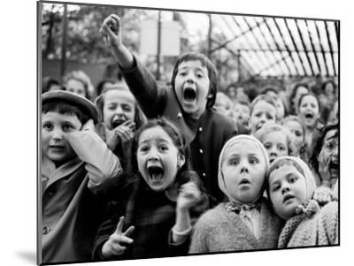 Children at a Puppet Theatre, Paris, 1963-Alfred Eisenstaedt-Mounted Premium Photographic Print