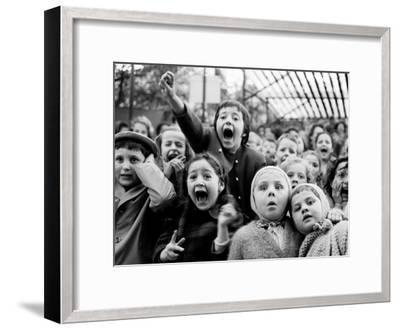 Children at a Puppet Theatre, Paris, 1963-Alfred Eisenstaedt-Framed Photographic Print