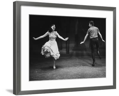 """Robert Horton in a Broadway Musical Based on the Play """"The Rainmaker""""-John Dominis-Framed Premium Photographic Print"""
