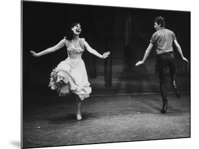 """Robert Horton in a Broadway Musical Based on the Play """"The Rainmaker""""-John Dominis-Mounted Premium Photographic Print"""