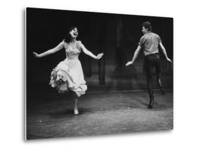 "Robert Horton in a Broadway Musical Based on the Play ""The Rainmaker""-John Dominis-Metal Print"