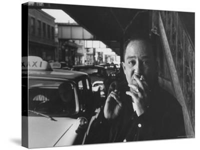 Poet Langston Hughes in Harlem-Robert W^ Kelley-Stretched Canvas Print