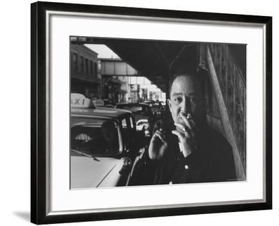 Poet Langston Hughes in Harlem-Robert W^ Kelley-Framed Premium Photographic Print