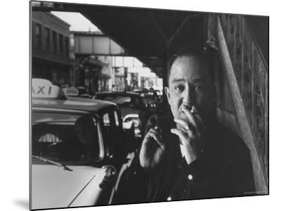 Poet Langston Hughes in Harlem-Robert W^ Kelley-Mounted Premium Photographic Print