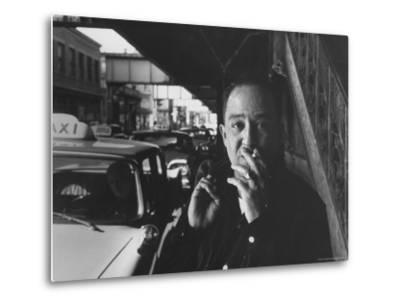 Poet Langston Hughes in Harlem-Robert W^ Kelley-Metal Print