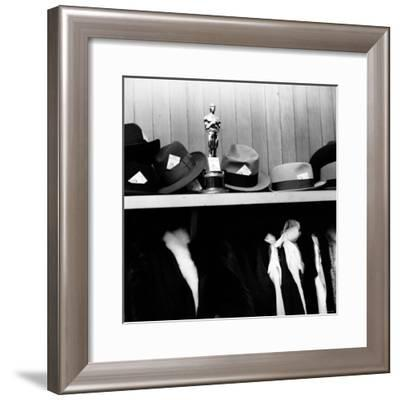 "Oscar Awarded to Producer Buddy Adler for the Film ""Here to Eternity""-Ed Clark-Framed Photographic Print"