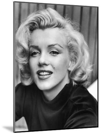 Actress Marilyn Monroe at Home-Alfred Eisenstaedt-Mounted Premium Photographic Print