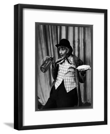 """Comedienne Lucille Ball Clowns During TV Episode of """"I Love Lucy""""-Loomis Dean-Framed Premium Photographic Print"""