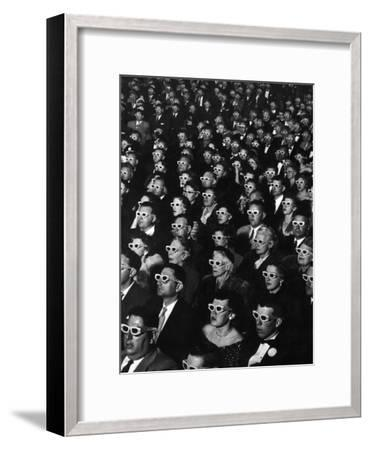 """3-D Movie Viewers during Opening Night of """"Bwana Devil""""-J^ R^ Eyerman-Framed Photographic Print"""