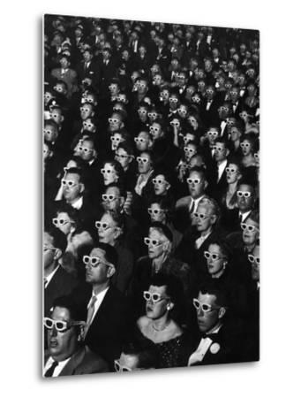 "3-D Movie Viewers during Opening Night of ""Bwana Devil""-J^ R^ Eyerman-Metal Print"