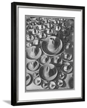 Display of Sombrero Ashtrays Hand Painted by Mexican Natives for Sale at Macy's Department Store-Margaret Bourke-White-Framed Photographic Print
