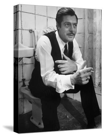 """Actor Marcello Mastroianni in a Scene From the Movie """"Marriage Italian Style""""-Alfred Eisenstaedt-Stretched Canvas Print"""
