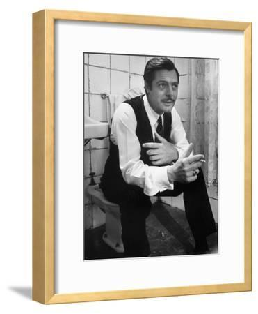 """Actor Marcello Mastroianni in a Scene From the Movie """"Marriage Italian Style""""-Alfred Eisenstaedt-Framed Premium Photographic Print"""